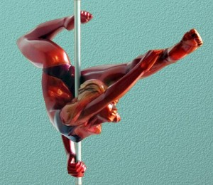 Rockstar Poledancer Sculpture